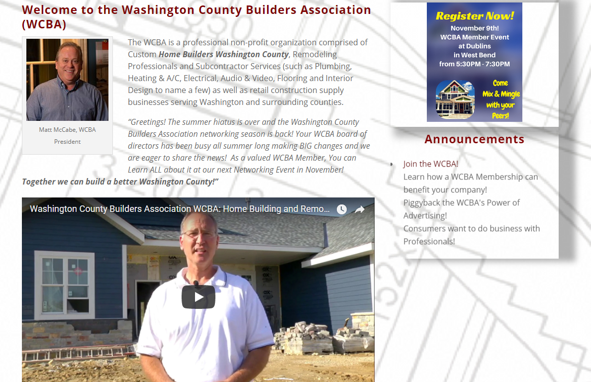 Washington County  Builders Assn
